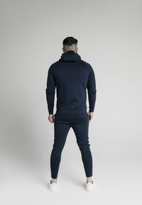 SIKSILK - EXPOSED TAPE ZIP THROUGH HOODIE - Hoodie met rits - navy - 2