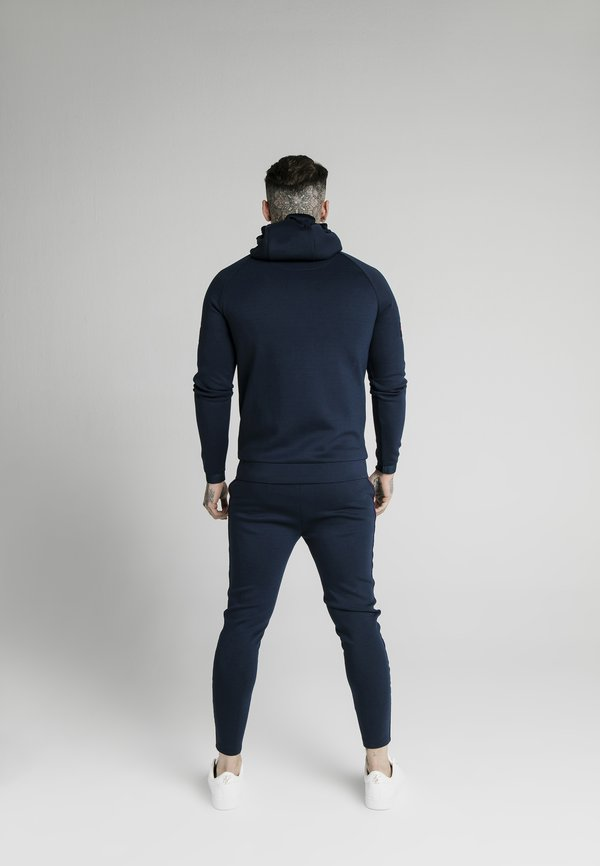 SIKSILK EXPOSED TAPE ZIP THROUGH HOODIE - Bluza rozpinana - navy/granatowy Odzież Męska AJLE