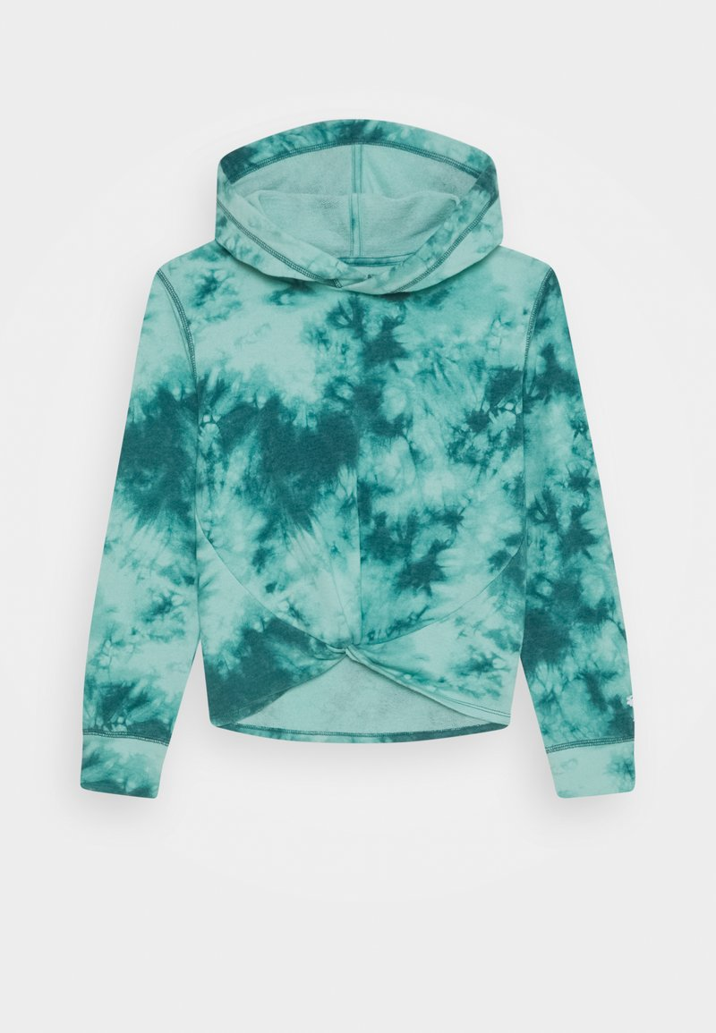 Abercrombie & Fitch - TWIST FRONT WASH - Hoodie - teal