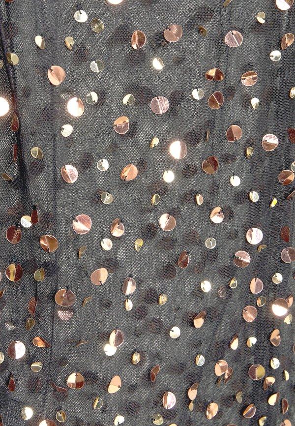 MANÉ THEA - Bluzka - washed black/rose gold/czarny VTCF