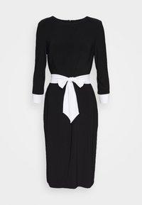 Lauren Ralph Lauren - CLASSIC TONE DRESS - Jerseyklänning - black/white - 3
