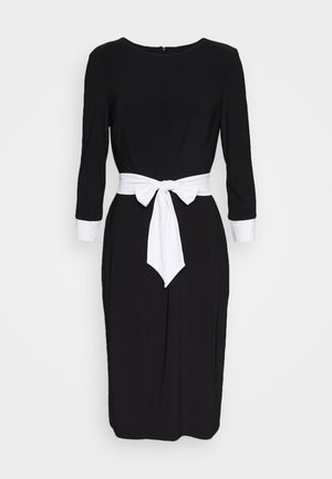 CLASSIC TONE DRESS - Vestito di maglina - black/white