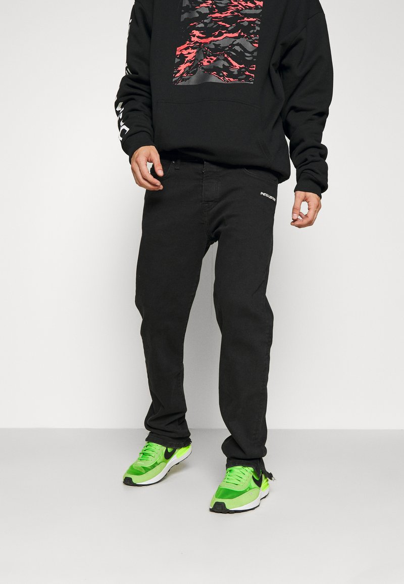 Pegador - BAYAMO DISTRESSED ANKLE - Straight leg jeans - black