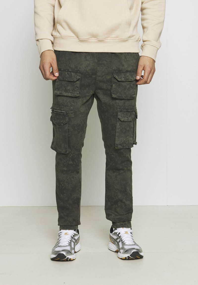 Good For Nothing - ACID WASH PANTS ONLY SIZE - Cargobyxor - green