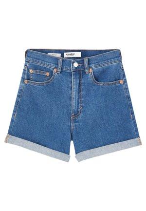 MIT HOHEM BUND - Jeansshort - blue
