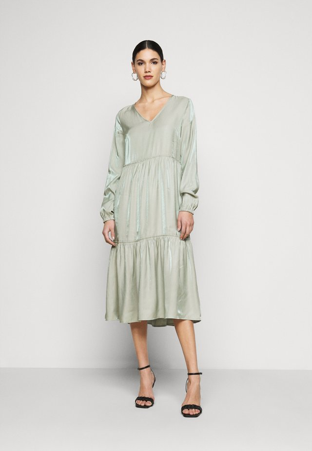 NMCORA DRESS - Sukienka letnia - slate gray