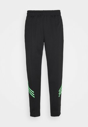 TRACK PANT UNISEX - Pantalon de survêtement - black/shock lime