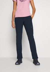 Jack Wolfskin - ZENON PANTS WOMEN - Pantalons outdoor - midnight blue - 0