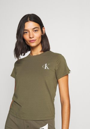 CK ONE LOUNGE CREW NECK - Pyjama top - muted pine