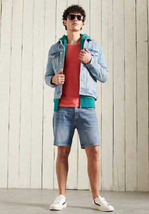 LABEL CLASSIC - Zip-up sweatshirt - ocean green marl