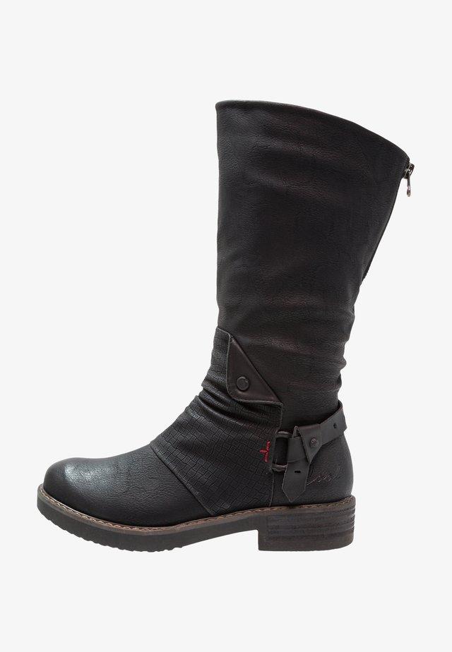 DAVISON - Kovbojské/motorkářské boty - black