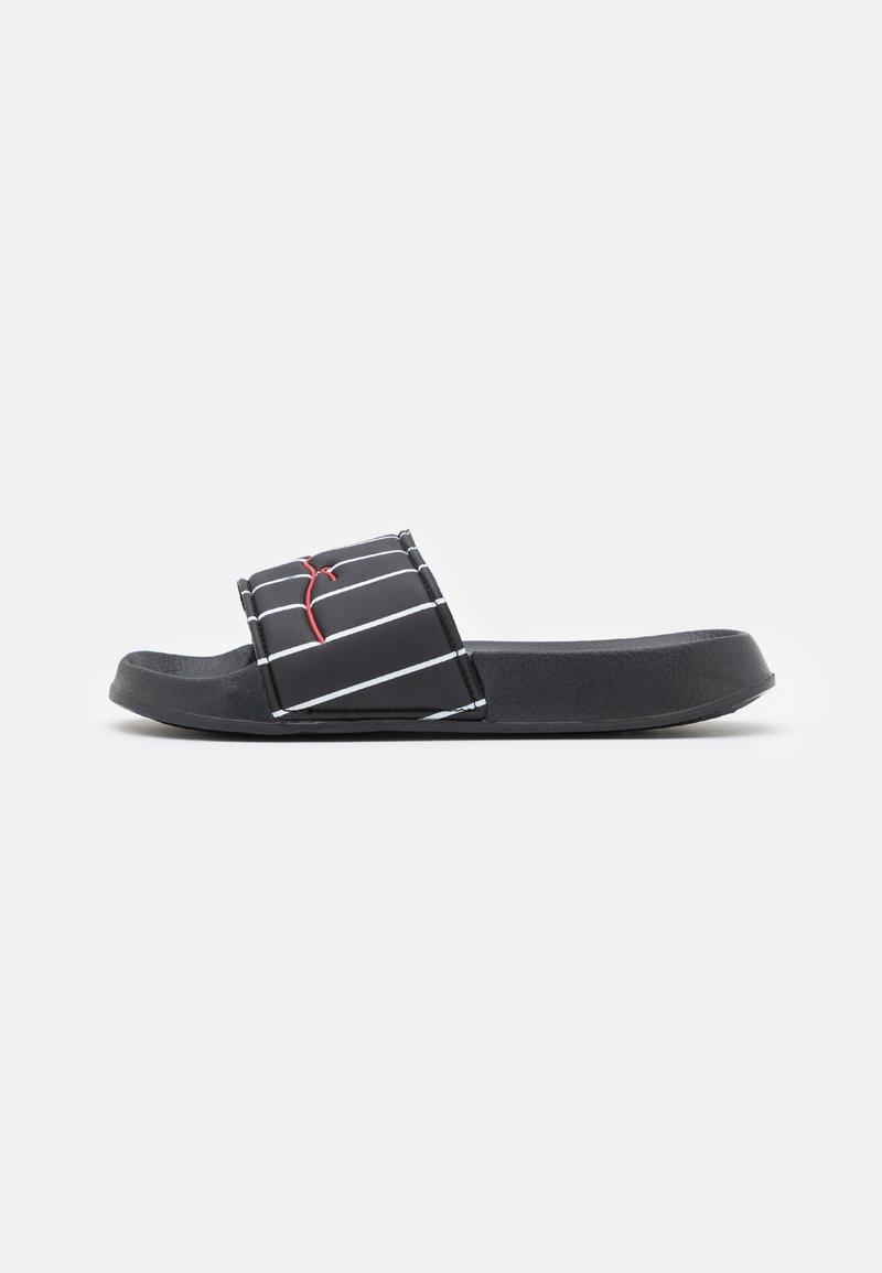 Karl Kani - SIGNATURE PINSTRIPE POOL SLIDES - Pool slides - black/white