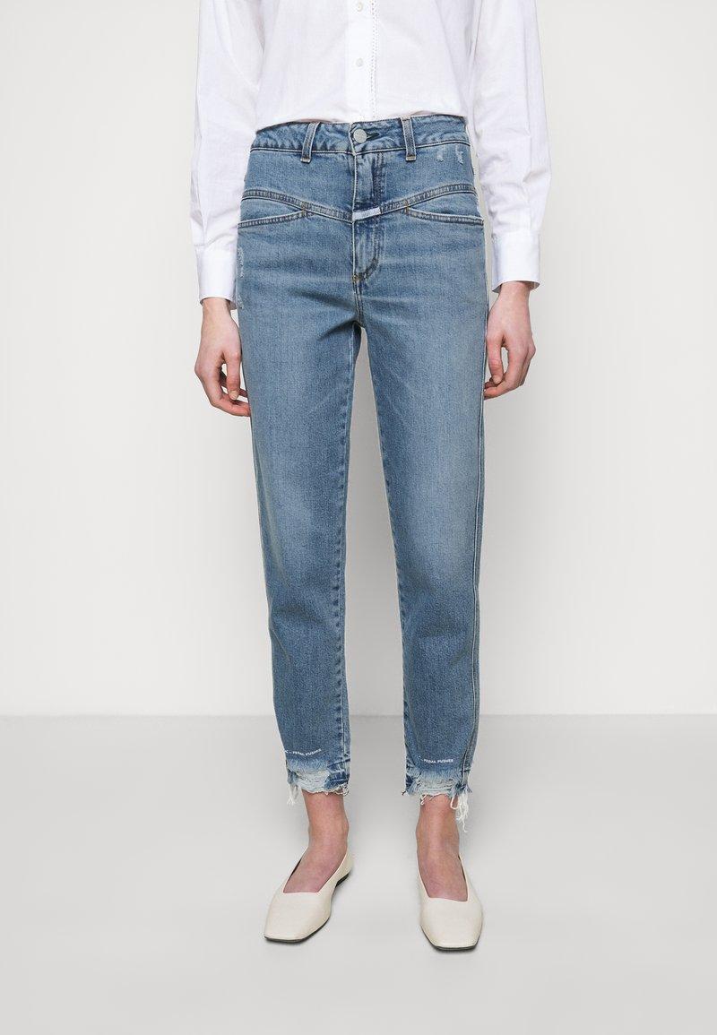 CLOSED - PEDAL PUSHER - Jean slim - mid blue