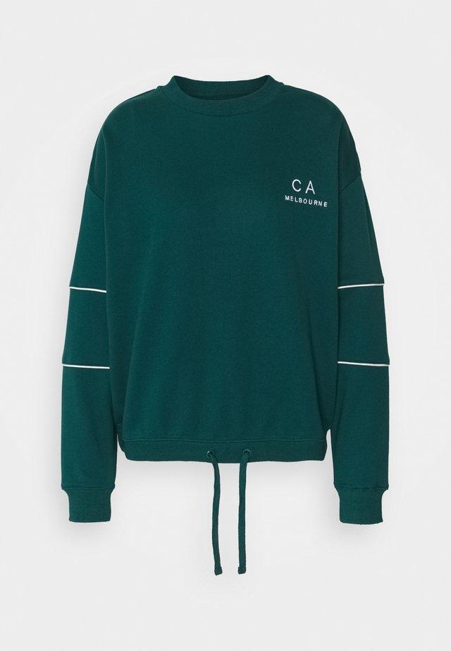 DRAWSTRING JUMPER - Sweater - pine green