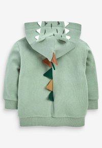 Next - DINO SPIKES - Zip-up sweatshirt - khaki - 1