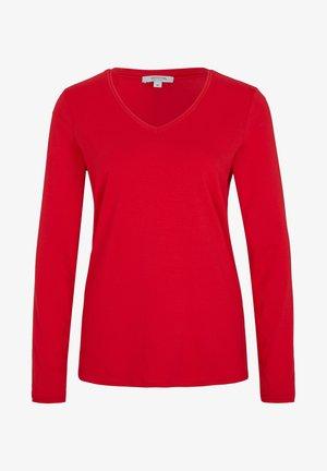 MIT V-AUSSCHNITT - Long sleeved top - scarlet red