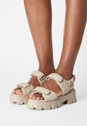 QUILTED STRAP GRANDED  - Sandals - beige