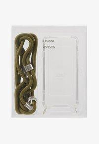Jost - IPHONE 6/6s/7/7s/8 CASE NECKLACE - Obal na telefon - olive uni - 1