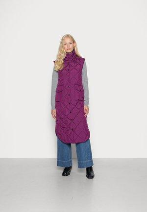 OLGA - Waistcoat - dark purple