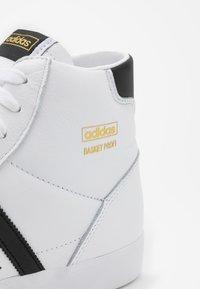 adidas Originals - BASKET PROFI UNISEX - High-top trainers - footwear white/core black/gold metallic - 4