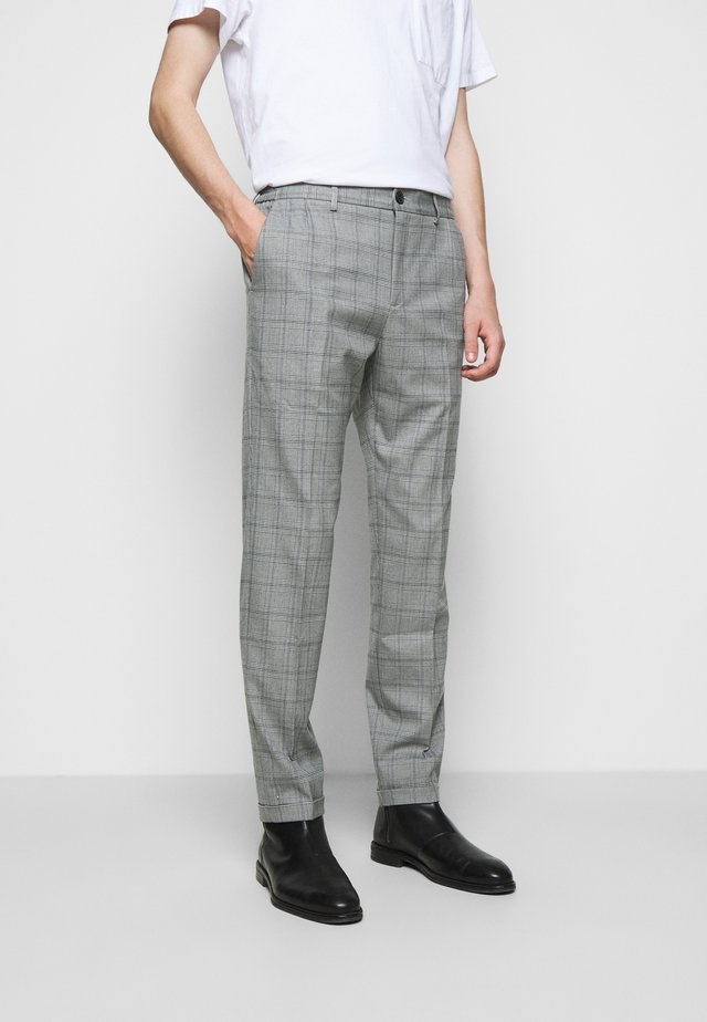 PINO CHECK ELASTIC WAIST PANTS - Pantalon classique - light grey melange
