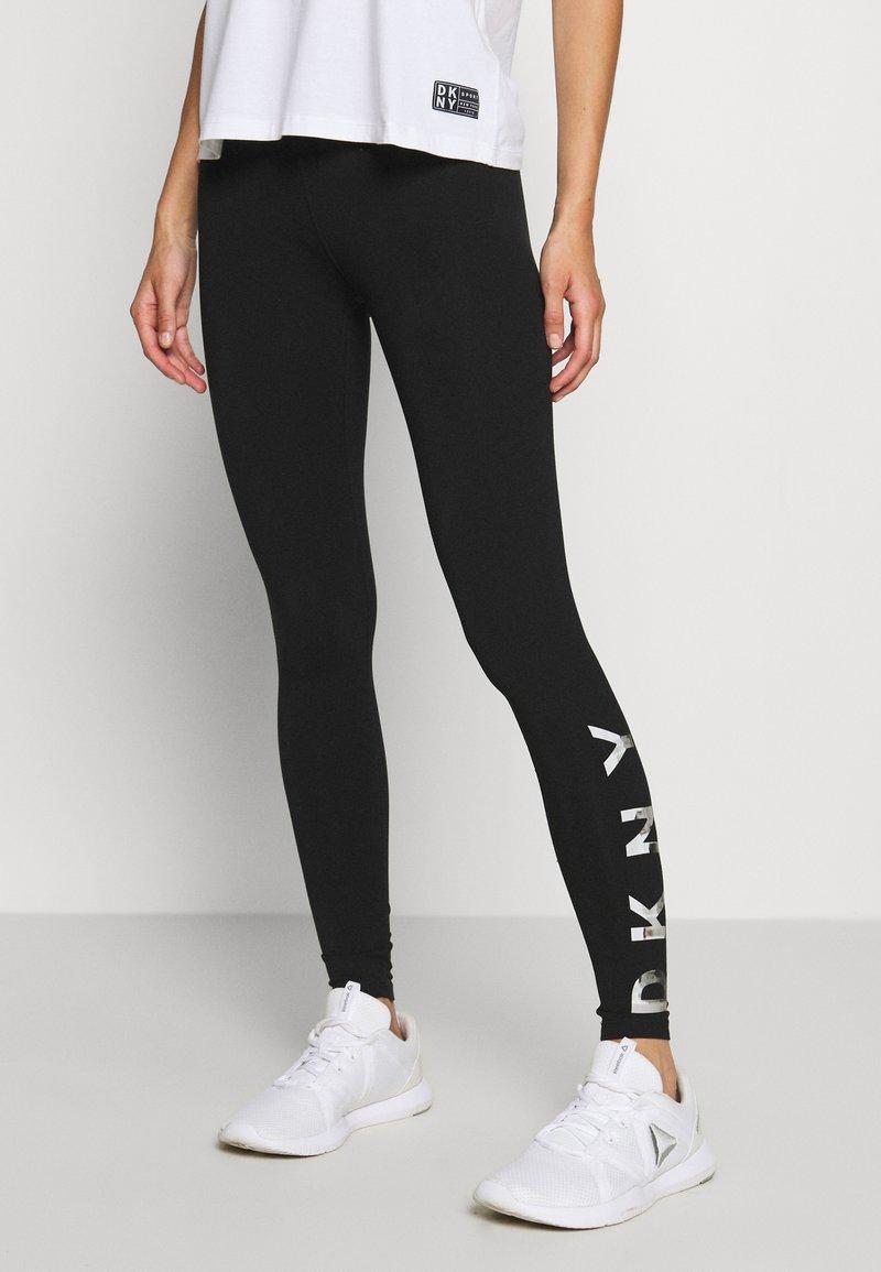 DKNY - LEGGING LOGO - Leggings - black