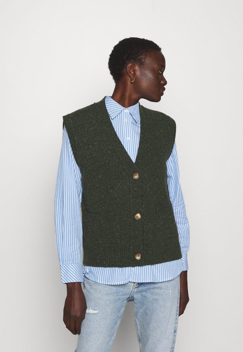Lovechild - VESPA WAISTCOAT - Cardigan - combu green