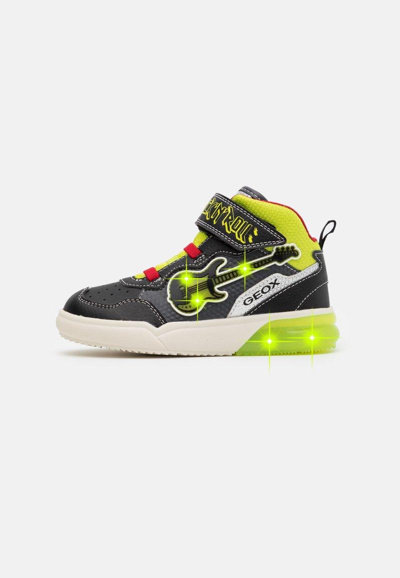 Geox - GRAYJAY BOY - Sneakersy wysokie - black/lime