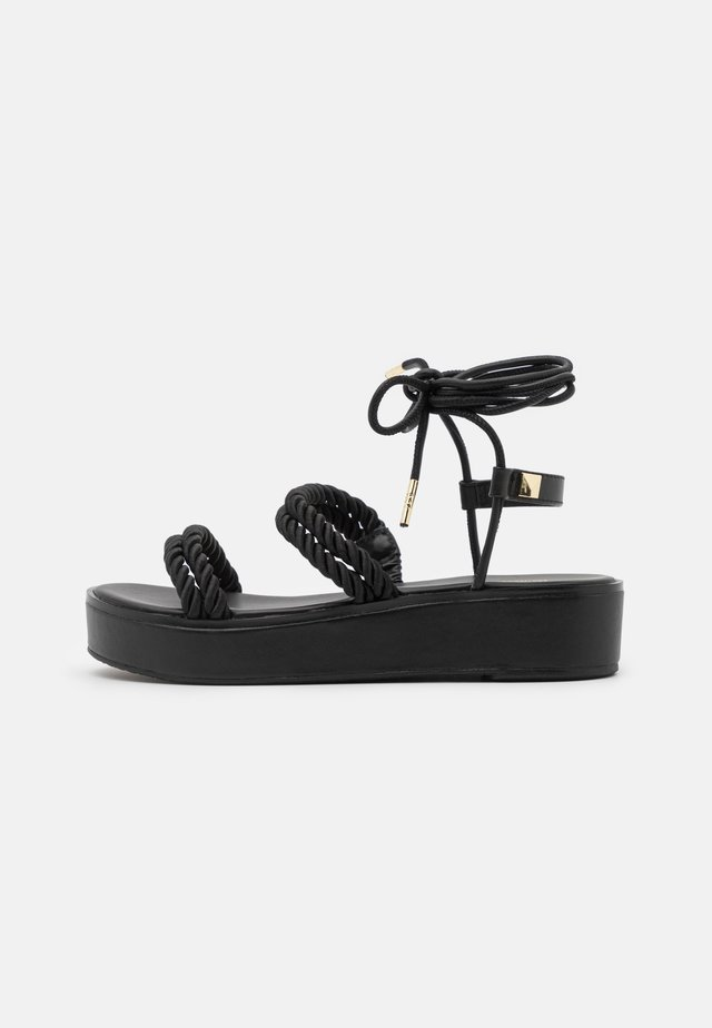 MARINA - Sandales à plateforme - black