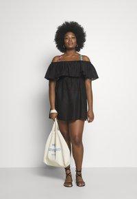 Simply Be - VALUE BARDOT BEACH DRESS - Doplňky na pláž - black - 1