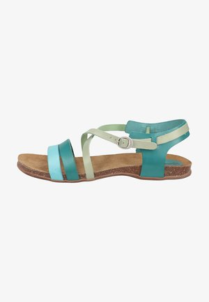 Sandalen - bleu turquoise menthe