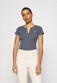 Abercrombie & Fitch - Basic T-shirt - dark blue - 0
