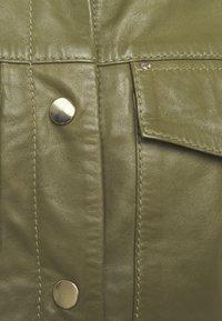 Ibana - NIGELA - Leather jacket - mossgreen - 3