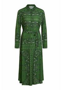 Oui - Shirt dress - green grey - 6