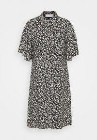 UMA SHORT DRESS - Shirt dress - black