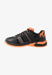 Kempa - ATTACK CONTENDER JUNIOR CAUTION - Handball shoes - black/fluo orange - 1