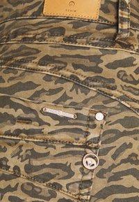 Cream - LOTTECR PRINTED PANTS  COCO FIT - Trousers - khaki tiger - 2