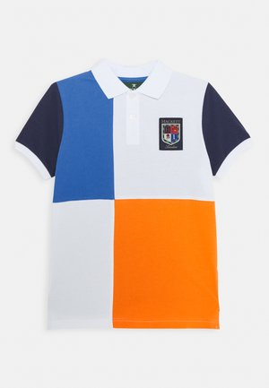 QUAD - Polo shirt - blue/orange