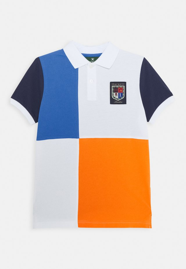 QUAD - Polo - blue/orange