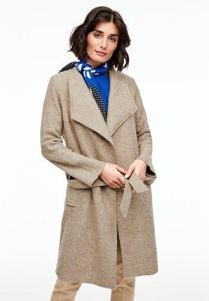 MANTEL AUS WOLL-BLEND - Classic coat - brown melange