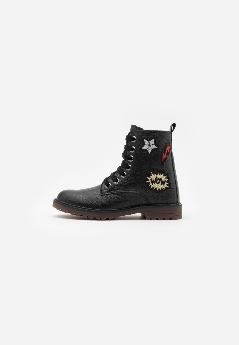 clic! - Lace-up ankle boots - black