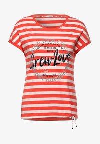 Cecil - Print T-shirt - orange - 3