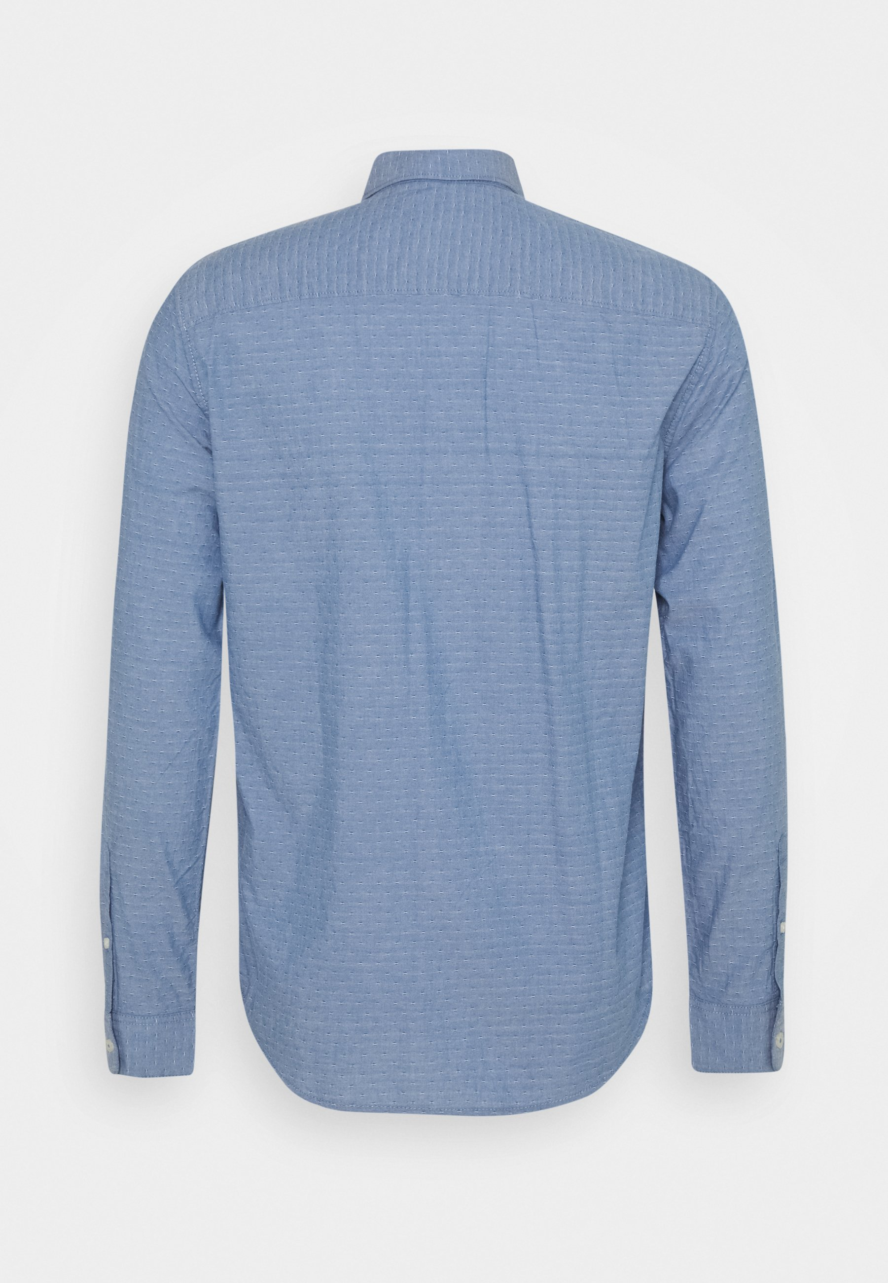 Tom Tailor Regular Organic Dobby - Skjorte Blue/white/blå