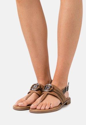 ERIN - T-bar sandals - tan