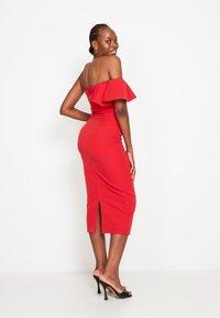 True Violet - FRILL - Shift dress - red - 2