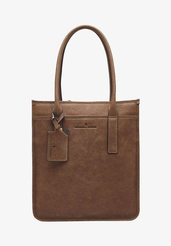 Laptop bag - cognac
