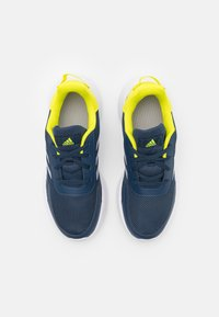 adidas Performance - TENSAUR RUN UNISEX - Hardloopschoenen neutraal - crew navy/halo silver/acid yellow - 3