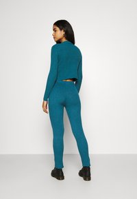 WAL G. - TAJ LOUNGE TROUSERS - Trousers - dark teal blue - 2