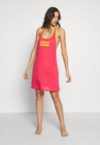 Tommy Hilfiger - POP TANK DRESS SHORT - Nightie - laser pink - 1