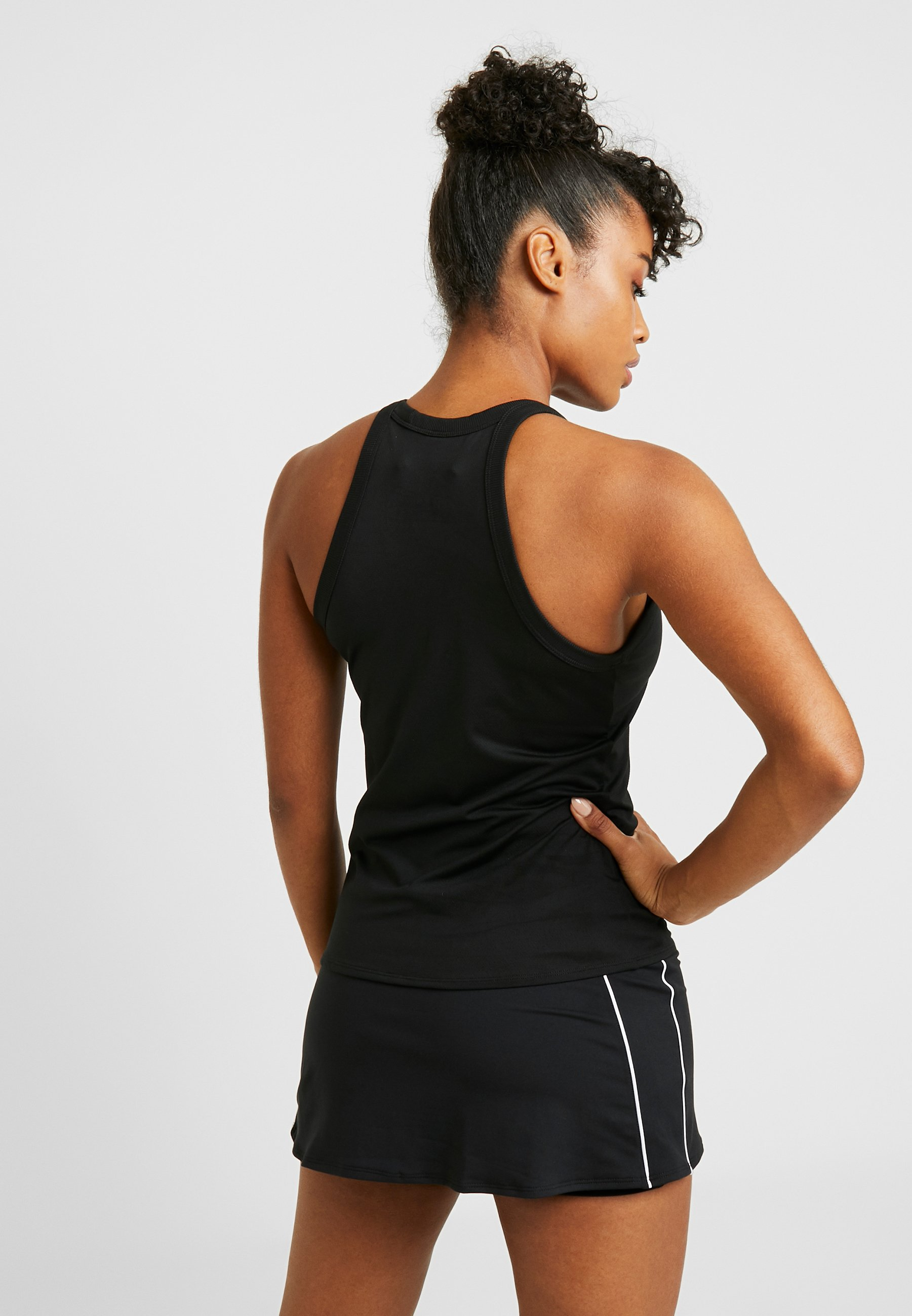 Nike Performance DRY TANK - Sports shirt - black/white r3mYO